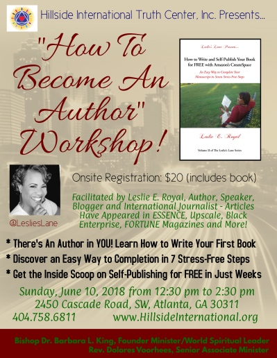 How to Become an Author Workshop Flyer for Hillside Final High Resolution
