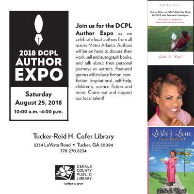 DeKalb Library Author Expo or book Fair Collage