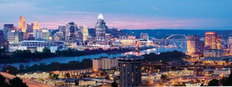 Cincinnati skyline panoramic